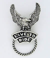 Sunglass Holder Pin Live to Ride - Biker Wear House