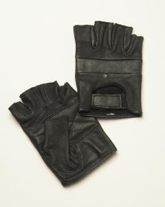 Softest Leather Fingerless Gloves - Biker Wear House