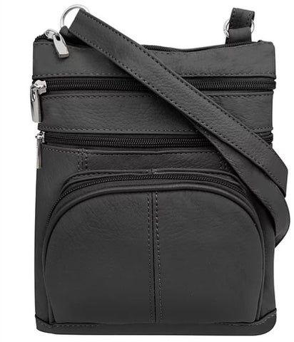 Five Compartment Crossbody Clip Bag with belt clips - Biker Wear House