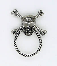 Sunglass Pin Skull and Crossbones - Biker Wear House