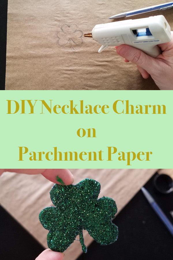 DIY Necklace Charm on Parchment Paper