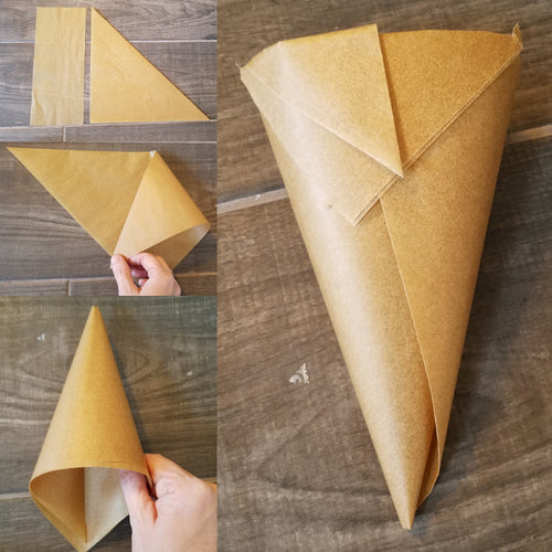 DIY Hand Folded Parchment Paper Piping Bag!