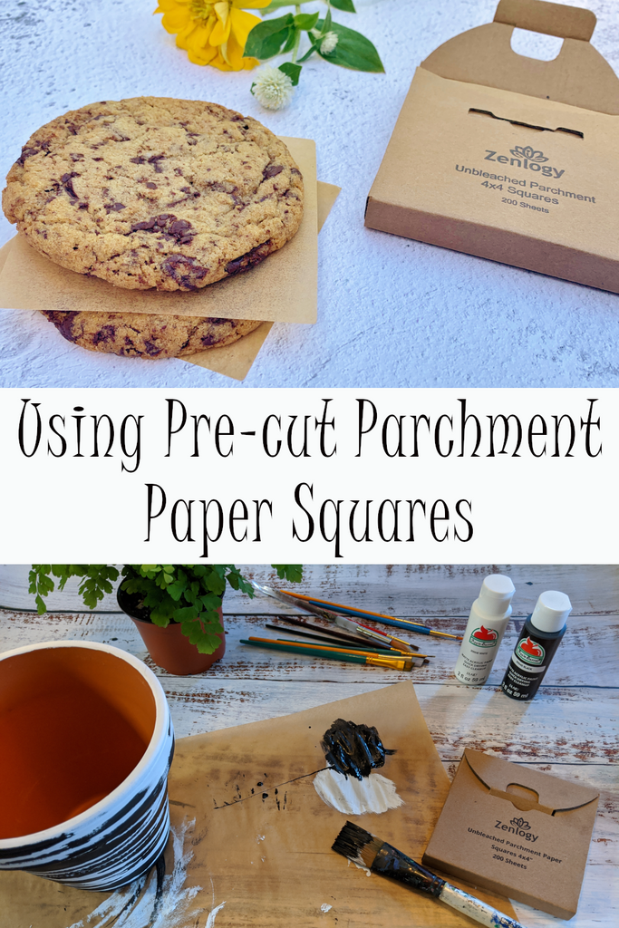 Using Pre-cut Parchment Paper Squares