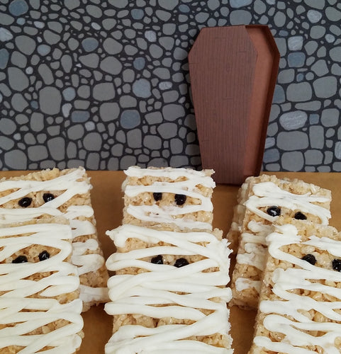 No Trick All Treat Rice Krispie Mummies