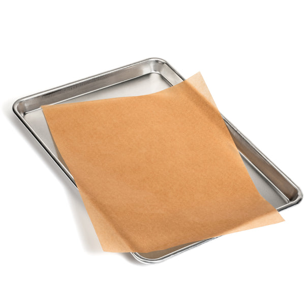 Unbleached 12x16 Parchment Paper Sheets - Exact Fit for Half Sheet Baking Pans