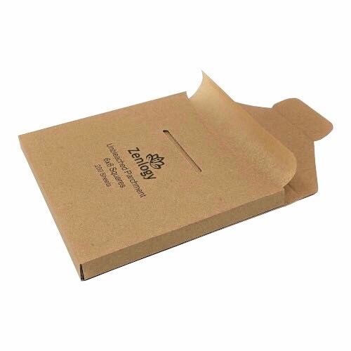 Unbleached 6x6 Parchment Paper Squares (200 sheets) - Exact Fit for 6x6 Square Baking Pans!
