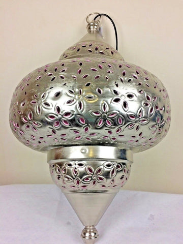 Handmade Moroccan Style Chandelier Vintage Ceiling Hanging Pendant Lamp 46x46x80