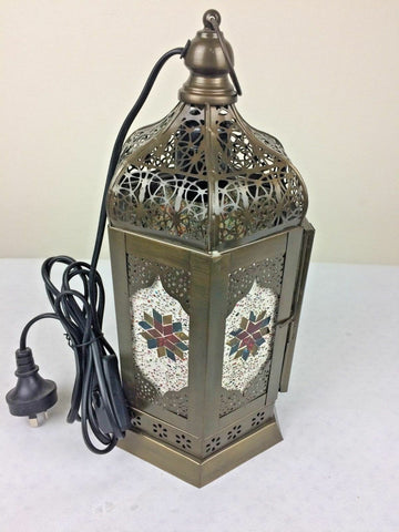 Moroccan Style Lamp Hanging Lantern Hand Made Metal Pendant Ceiling Light Fairy
