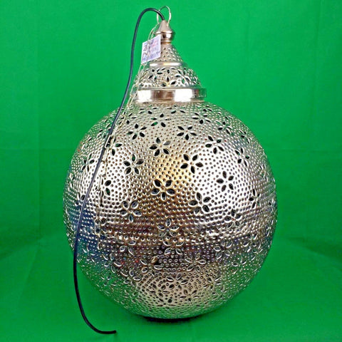 Vintage Globe Chandelier Light Moroccan Style Handmade Hanging Pendant Lamp New