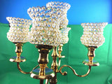 Vintage 5 Arm Candelabra Traditional Candle Holder Gold Metal Home Xmas Decor