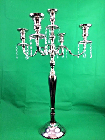 Vintage Traditional 5 Arm Metal Candle Holder Classic Candelabra Home Xmas Decor
