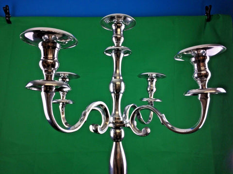 Handmade 5 Arm Traditional Candle Holder Vintage Candelabra Metal Home Decor New