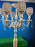 Vintage 7Arm Candelabra Wedding Decor Centerpiece H:150cm Crystal Shade/Drop New