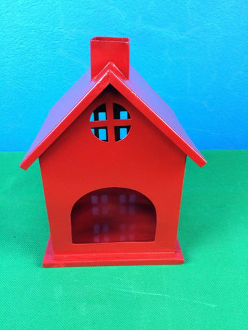 Handcrafted Metal Christmas Cottage Iron Powder Coat Home Decor H20cm New Design