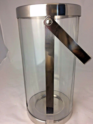 Handmade Traditional Lantern Stainless Steel Polished Glass 10x18x35cm NEW Style
