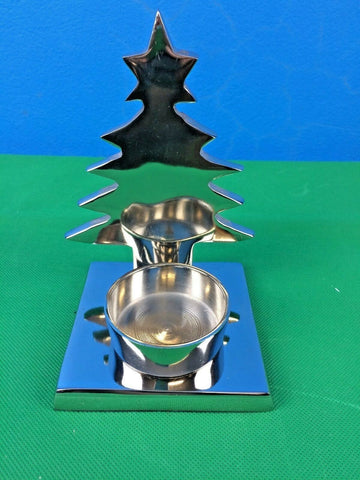 Metal Home Decor Candleholder w Christmas Tree Shade Aluminium 13x10x15 cm NEW