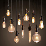 Retro Pendant Light Holder E27 Base & Edison Filament Bulbs 110v - 220v