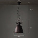 Black Metal Loft Pendant Lamp