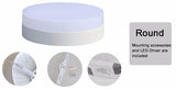 Square-Round LED Panel Ceiling Light 6W 12W 18W 24W