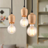 Indoor Vintage Wood Lampholder Pendant Lamps