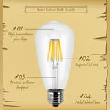 LED Edison Bulb E27 Retro Candle Light 220V