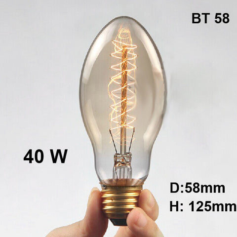 Edison Bulb Retro Vintage Light 40W Incandescent Lamp E27 220V BT58