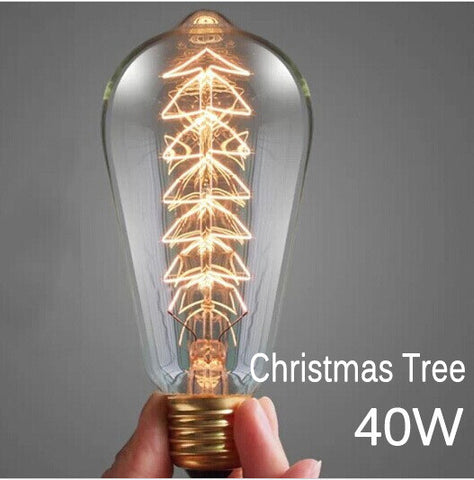 Edison Bulb Retro Vintage Light 40W Incandescent Lamp E27 220V Christmas Tree