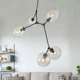 Modern Loft Industrial Transparent Glass Chandelier E27