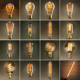 Vintage Edison Bulb AC 110V/220V E27 Retro Incandescent Filament Light Bulb