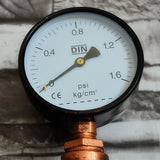 5-Head Water Pipe with Gauges Industrial Vintage Steampunk Wall Lamps / Sconces