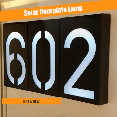 3 LED Door Plate Solar Lamp