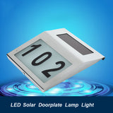 2 LED Stainless Door Plate Solar Lamp