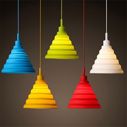 Modern Colorful LED Silicone Pendant Lights E27