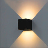 Modern Cube Adjustable Waterproof Aluminum LED Wall Lamps