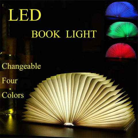 LED Book Night Light Table Lamp USB Rechargeable