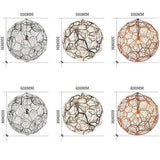 Home Etch Web Round Ball Stainless Steel Pendant Lights