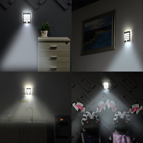 LED Motion Sensor Rechargeable Wall Light with USB  - Battery Operated