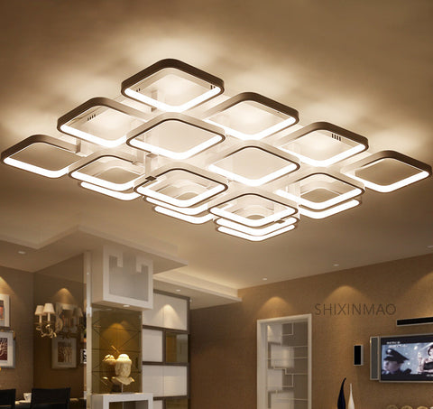 LED Squares Surface-Mounted Ceiling Fixture