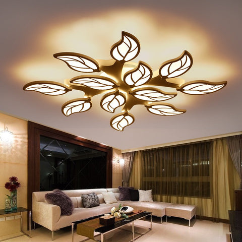 Leaf Design Surface Mounted Acrylic Ceiling Fixture