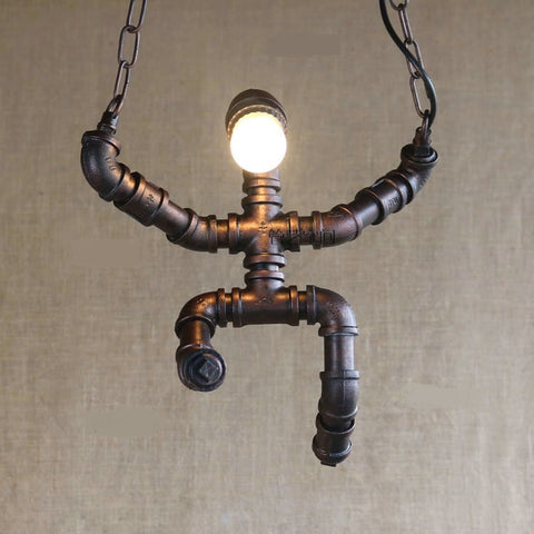 Creative Retro Pipe Pendant Light