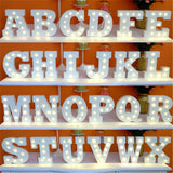 White LED Wooden Alphabet Decoration Night Light