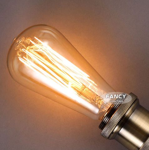 Retro st64 vintage edison bulb e27 incandescent filament light bulb 110v 220v @ 40w 60w