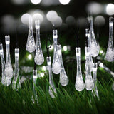 Solar led Outdoor Colorful Water droplets Light string 4.8M 20LEDs Waterproof Warm White
