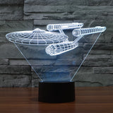 3D LED BATTLESHIP Visual Night Light - Rechargeable with AC Plug