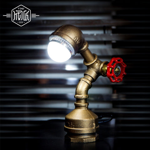 Water Pipe VIntage Industrial Table Lamp