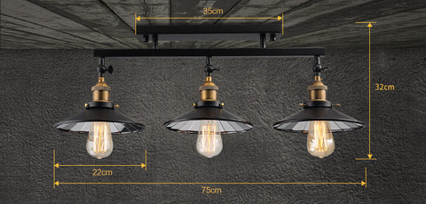 Fashion Loft Iron Ceiling Light with Mirror Glass Reflector E27