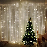 Party Backdrop String Curtain Light 6x3M, 600 Led Waterfall Decoration Lights