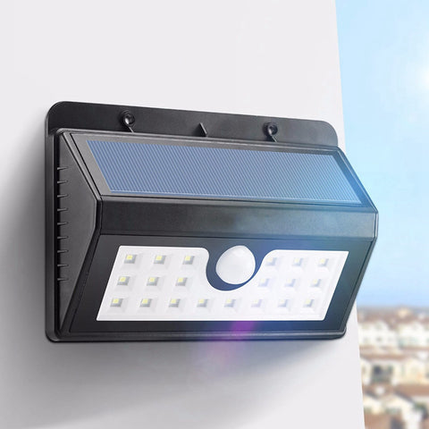 20 LED Solar Powered Waterproof Light IP65 PIR Sensor