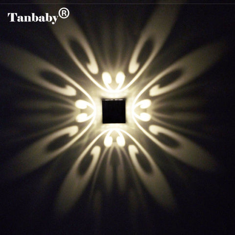 Modern Aluminum 3W LED Wall Scone that Projects butterfly pattern