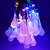20 LED Water Drop Solar Powered String Lights Outdoor/Indoor